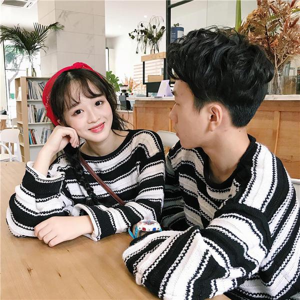 áo len đôi hàn quốc