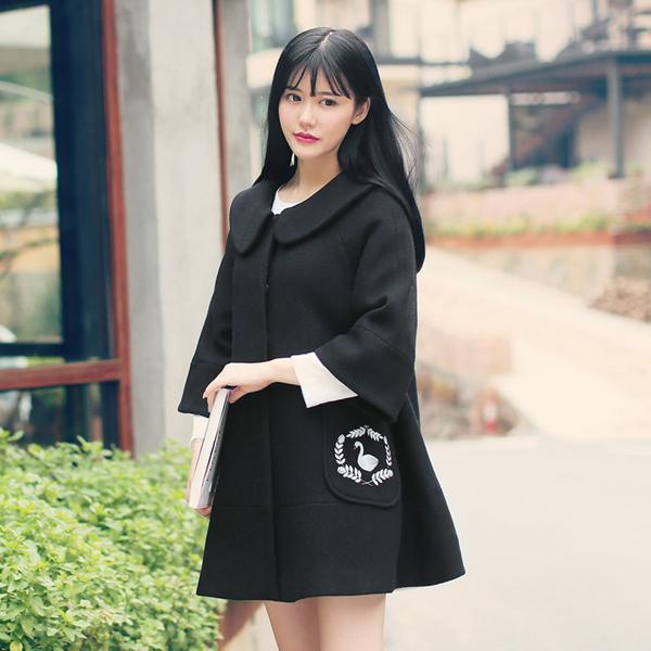 áo măng tô nữ hàn quốc