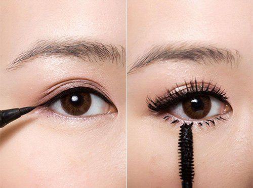 Tạo đuôi mắt bằng bút nước để tạo nét thanh mảnh sắc sảo