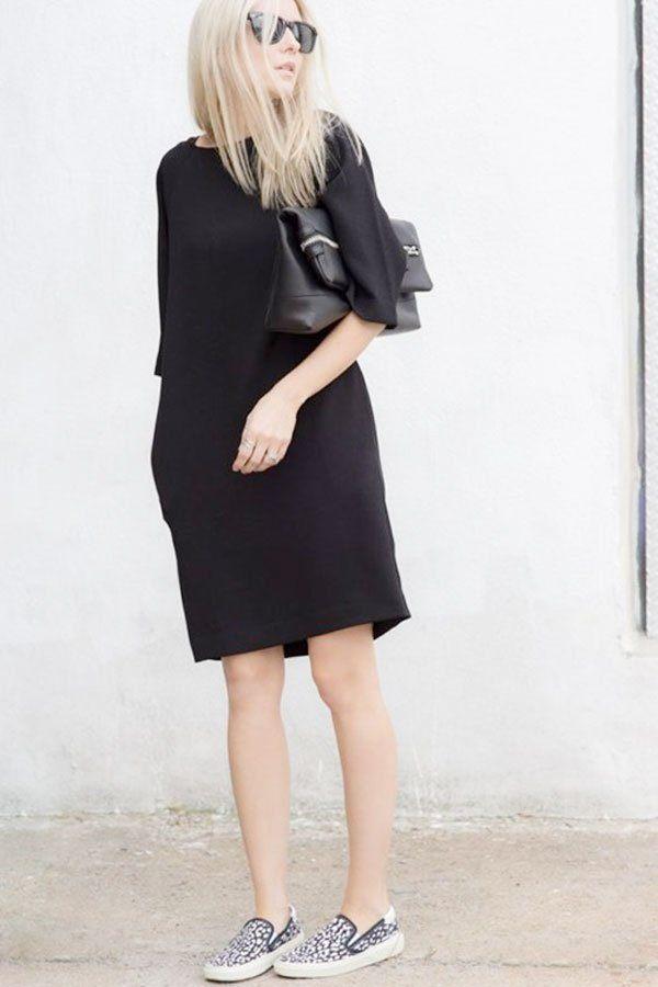 váy đầm cho người mập Màu đen giúp chị em thon gọn