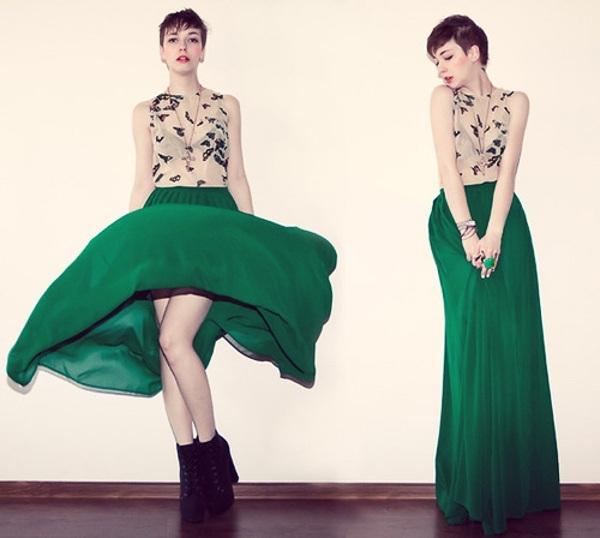Chân váy dài maxi đẹp sang trọng
