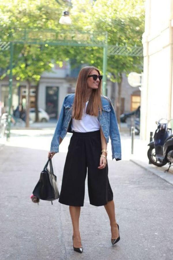 quần ống rộng mặc với áo gì đẹp 3