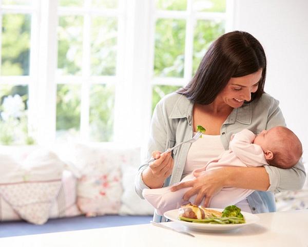 giảm cân sau sinh mà vẫn nhiều sữa cho con bú