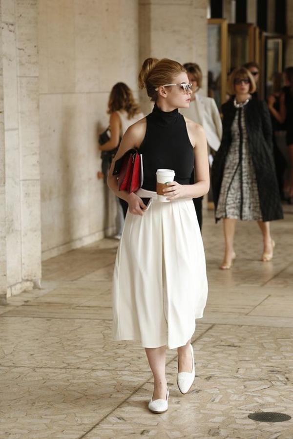 Phong cách thời trang vintage với quần ống rộng