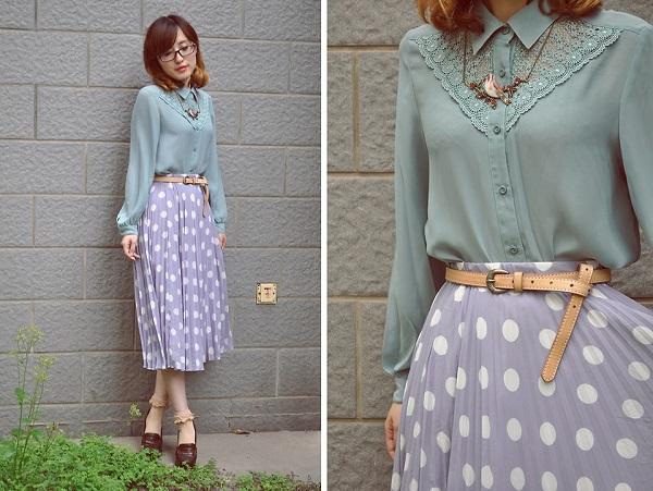 mặc đồ theo phong cách vintage đẹp