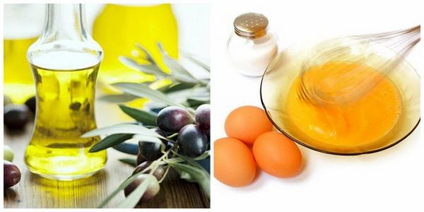 Chăm sóc da bằng trứng gà và dầu oliu