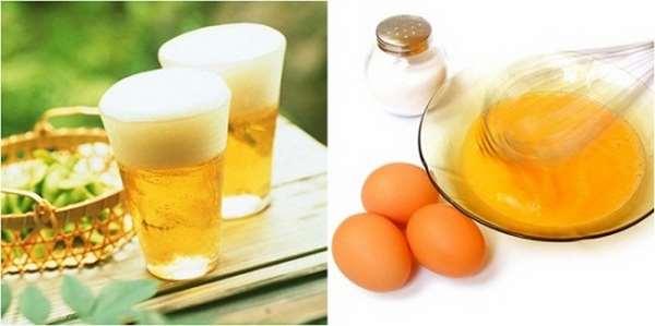 Cách chăm sóc da mặt bằng trứng gà và bia