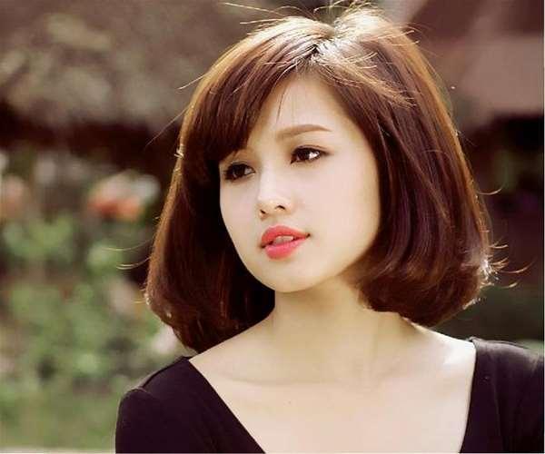 Kiểu tóc phù hợp với khuôn mặt dài và gầy