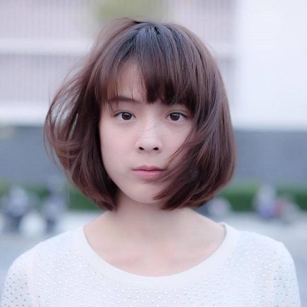 Kiểu tóc phù hợp cho khuôn mặt trái xoan