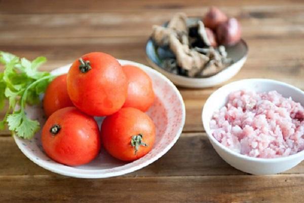 Nguyên liệu cần chuẩn bị nấu món canh chua thịt băm