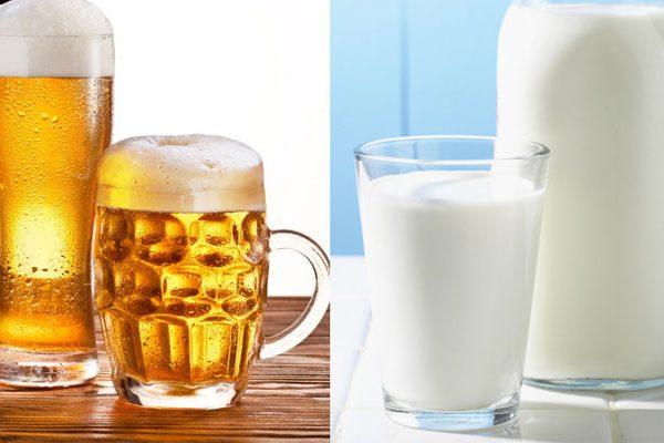 Cách rửa mặt bằng bia với sữa tươi