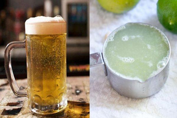 Cách rửa mặt bằng bia với chanh và mật ong