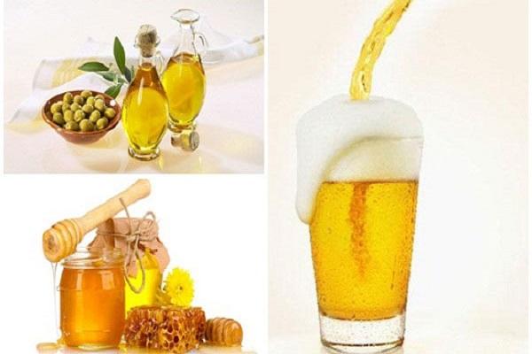 Cách rửa mặt bằng bia với dầu oliu