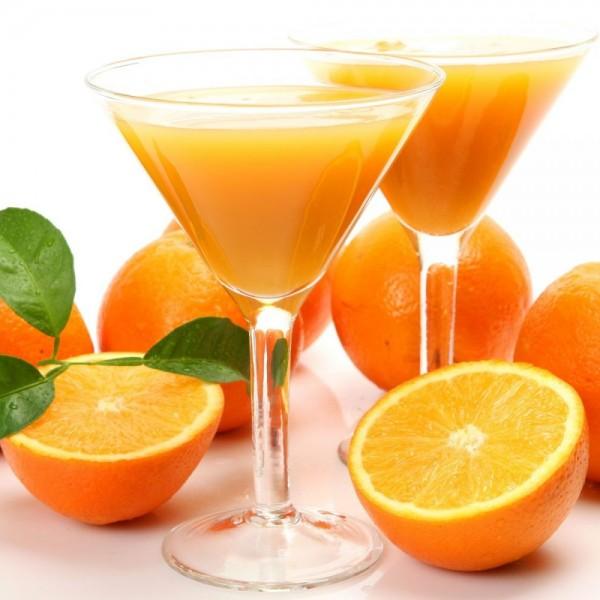 thực đơn giảm cân bằng nước ép trái cây cam