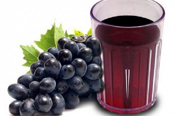 thực đơn giảm cân bằng nước ép trái cây nho